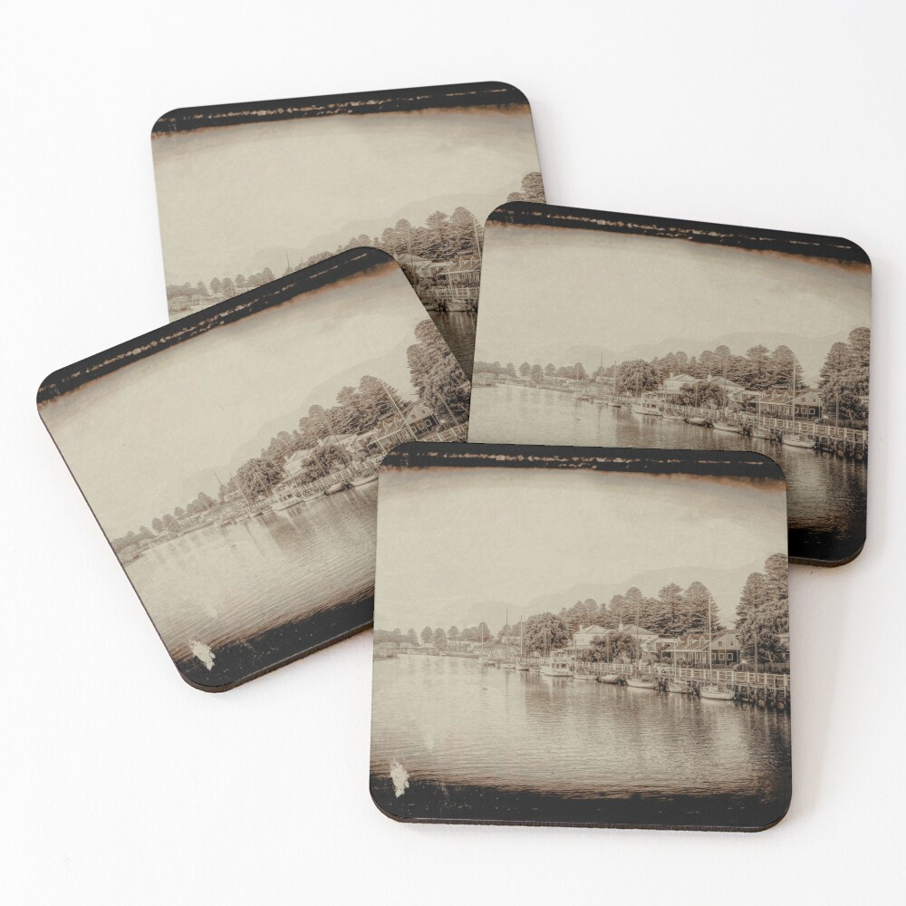Port Fairy Sunrise (tin type vintage sepia) Coasters (Set of 4)