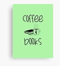 Kaffee und Bücher Leinwanddruck