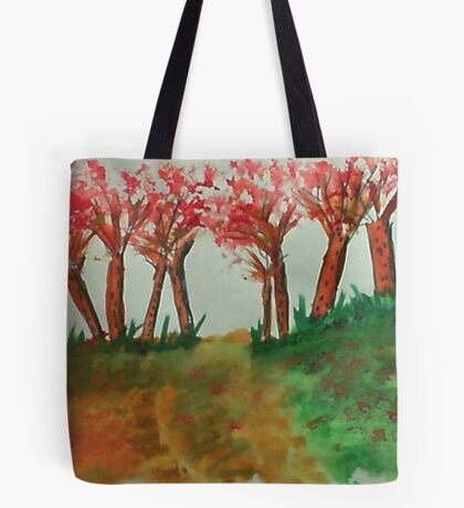 More thicker trees on the hill in abstact/casual, watercolor Tote Bag