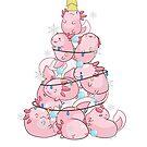 Axolotl Christmas Tree by leeseylee