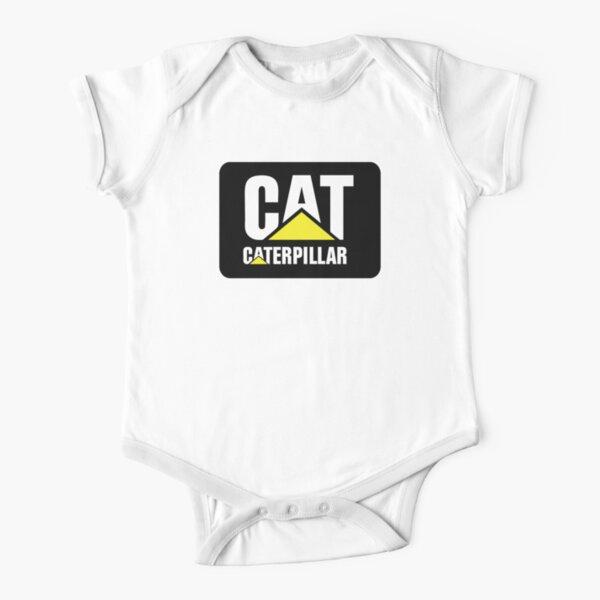 Logotipo Caterpillar Sobre Fondo Negro Body de manga corta para bebé