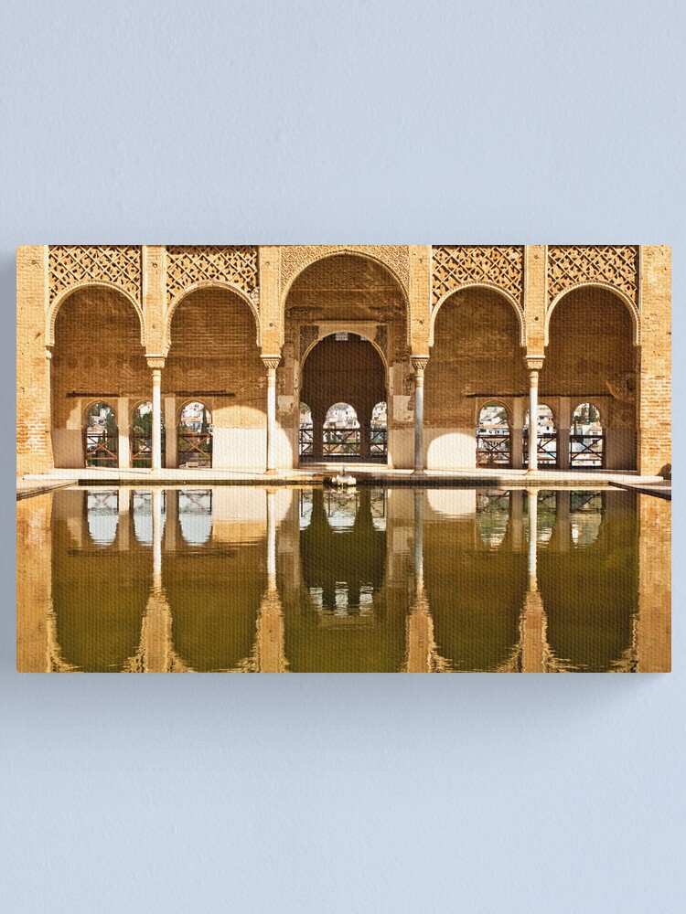 Alternate view of Reflections of the Partal Palace Canvas Print