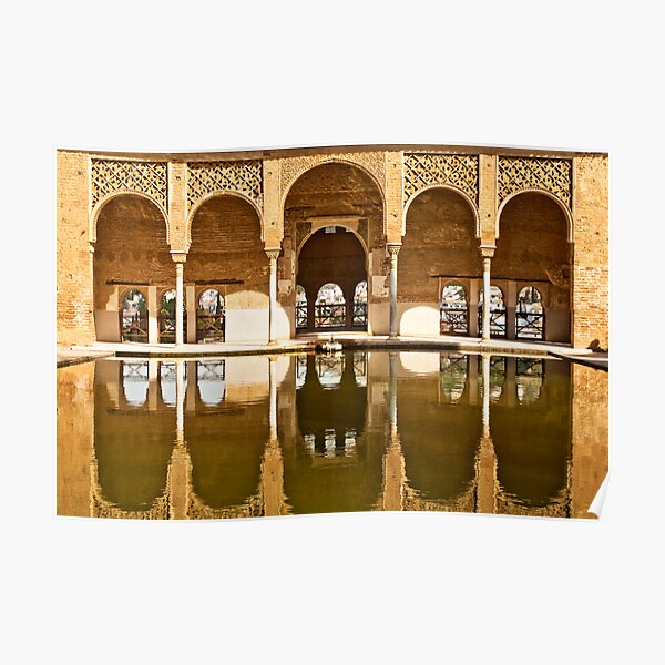 Reflections of the Partal Palace Poster