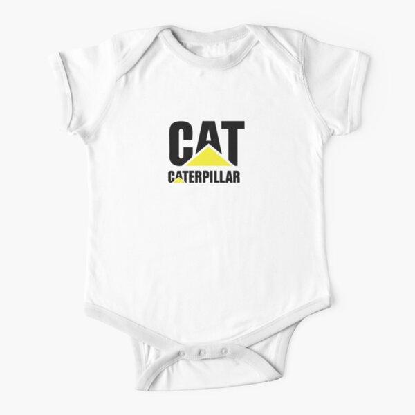 Logotipo Caterpillar Sobre Fondo Blanco Body de manga corta para bebé