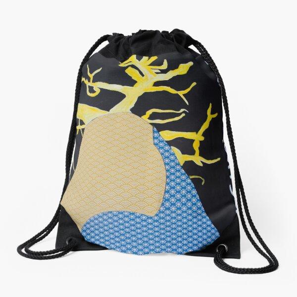 Baobab fabric written image Drawstring Bag