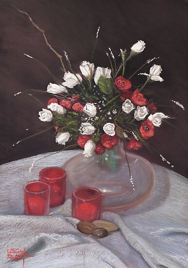 Of red and white by Leigh Rust