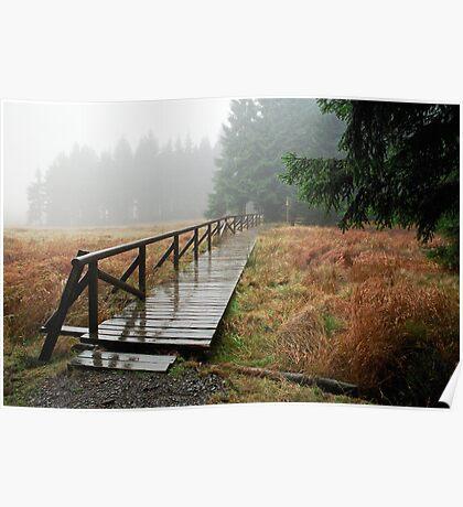 Rainy day in Siegmundsburg (Thuringia, Germany) Poster