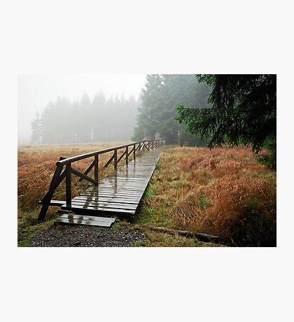 Rainy day in Siegmundsburg (Thuringia, Germany) Photographic Print