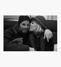 Mama Kissing Papa Photographic Print