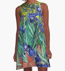 Irises by Vincent van Gogh A-Line Dress