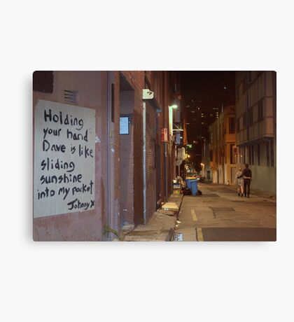 Holding Your Hand... Canvas Print