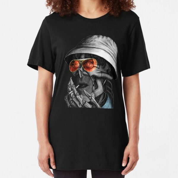 "Tribute artwork ""Hunter S. Thompson"" Slim Fit T-Shirt"