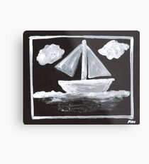 The Simpsons Inspired Sailboat Metal Print