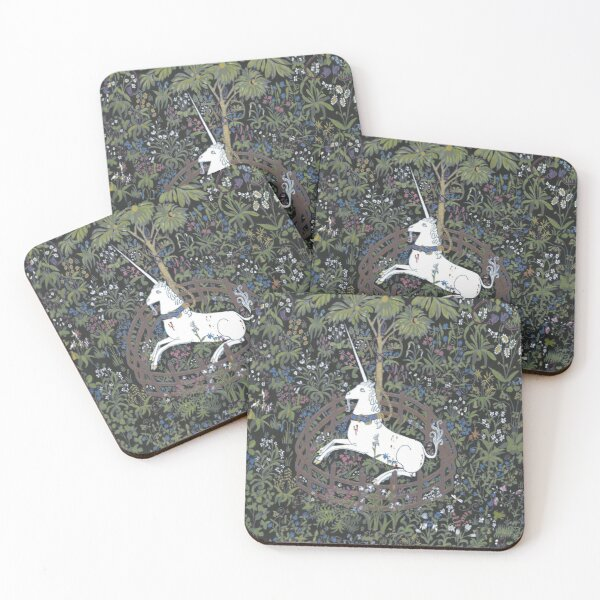 Unicorn in captivity Coasters (Set of 4)