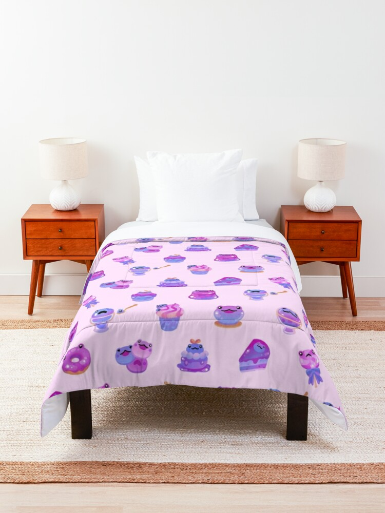Alternate view of Blueberry frog Comforter