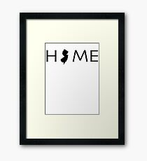 NEW JERSEY HOME Framed Print