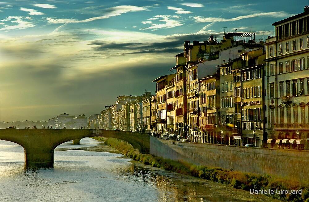 An Italian Sunset in Firenze Italy by Danielle Girouard