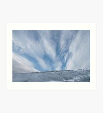 Jet stream clouds on an icy day Art Print