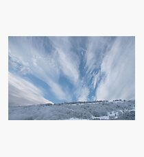 Jet stream clouds on an icy day Photographic Print