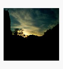 Sunset at Cheddar Photographic Print