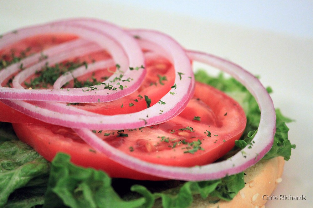 Onion, Tomato, Lettuce by Chris Richards