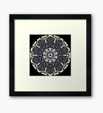 Motor Bike Engine Kaleidoscope Framed Print