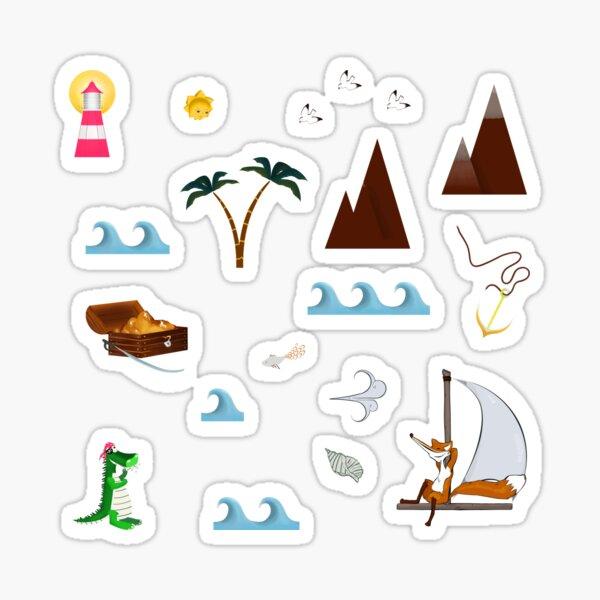 Schatzsuche Sticker Set Sticker