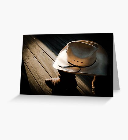 Shrunken Cowboy Greeting Card