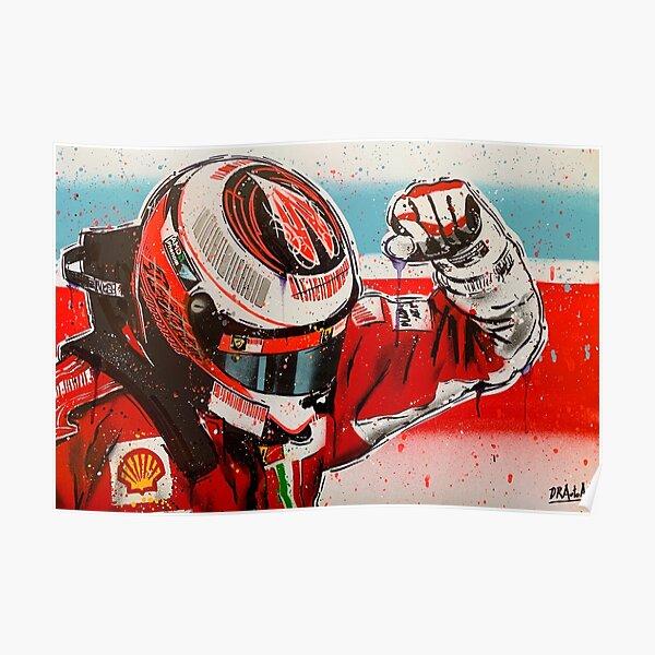 Kimi Raikkonen - Ferrari F1 graffiti painting by DRAutoArt Poster