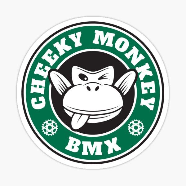 Cheeky Monkey BMX Monkoffee Green Sticker