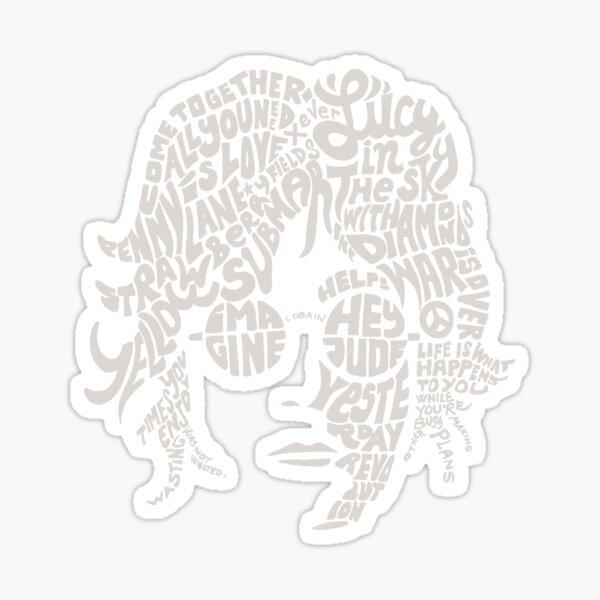JOHN LENNON black Sticker