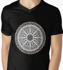Sahasrara (Crown) Chakra Meditation Mandala Original Hand Painted V-Neck T-Shirt
