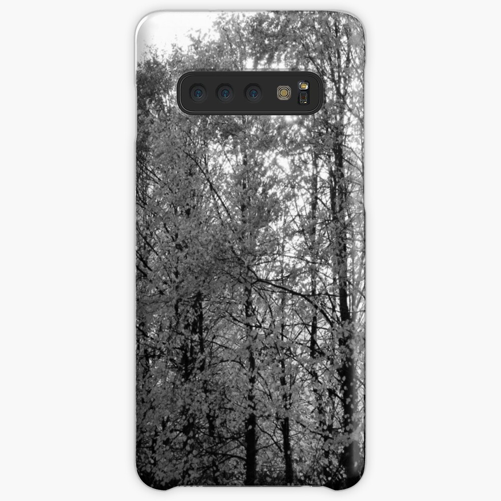 Autumn Trees in Black and White Case & Skin for Samsung Galaxy