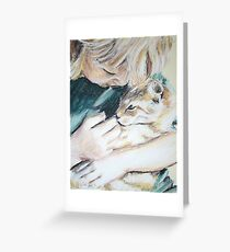 Cuddle Kitty Greeting Card