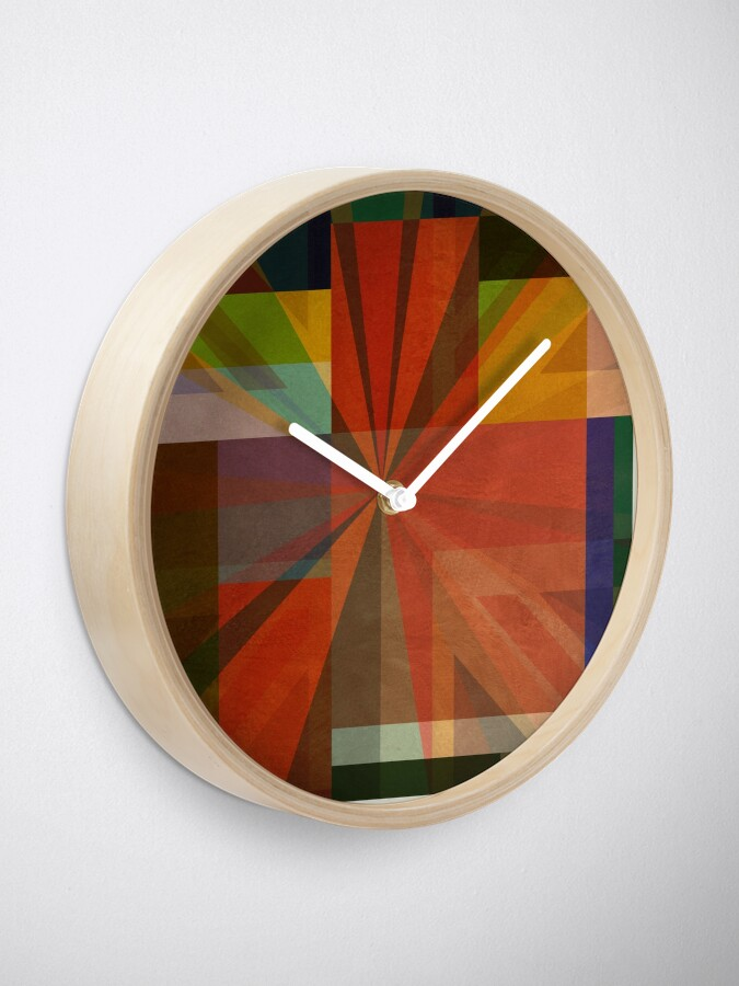 Alternate view of Union Squares Rainbow Nation FIVE Clock