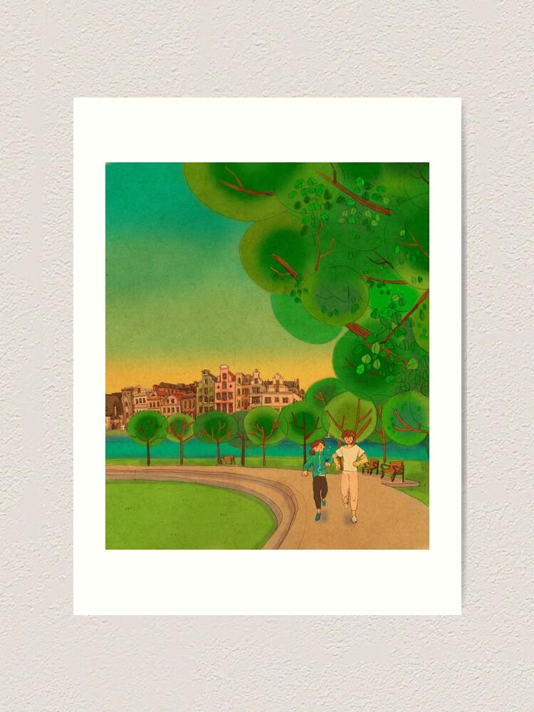 Alternate view of Jogging together Art Print