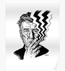 David Lynch smoking Poster