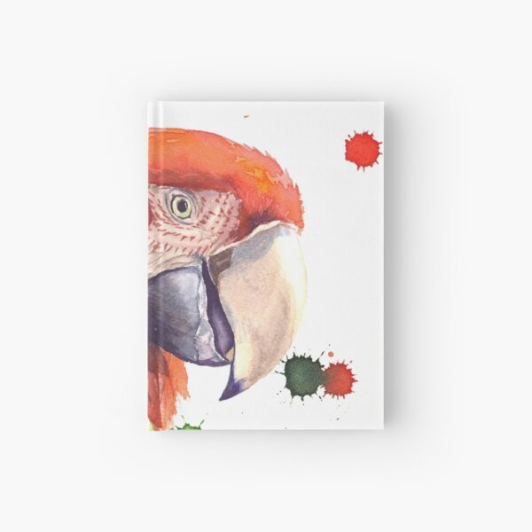 Perroquet rouge - Ara chloroptère Carnet cartonné