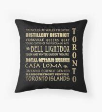 Toronto Canada Famous Landmarks Throw Pillow