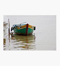 Muddy Water Boat Photographic Print