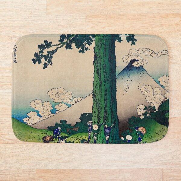 Mishima Pass in Kai Province Hokusai Bath Mat