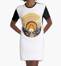 Vault Hunter Sunset Graphic T-Shirt Dress