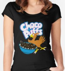 Coo Coo for Choco Puffs- Final Fantasy Spoof  Women's Fitted Scoop T-Shirt