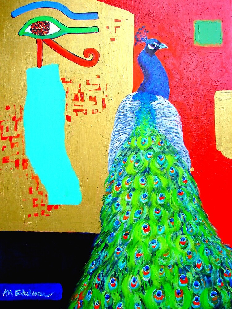 THE PEACOCK'S MESSAGES by ANA MARIA EDULESCU