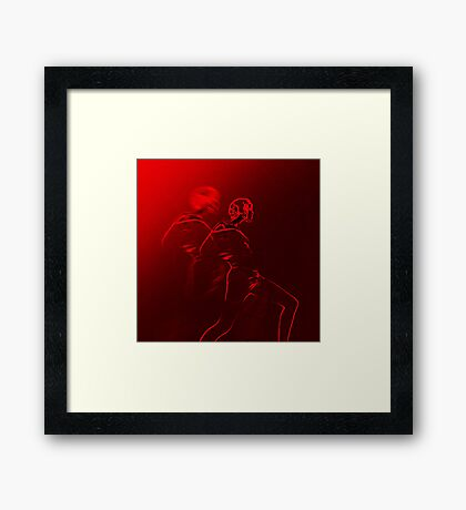 Woman in movement Framed Print