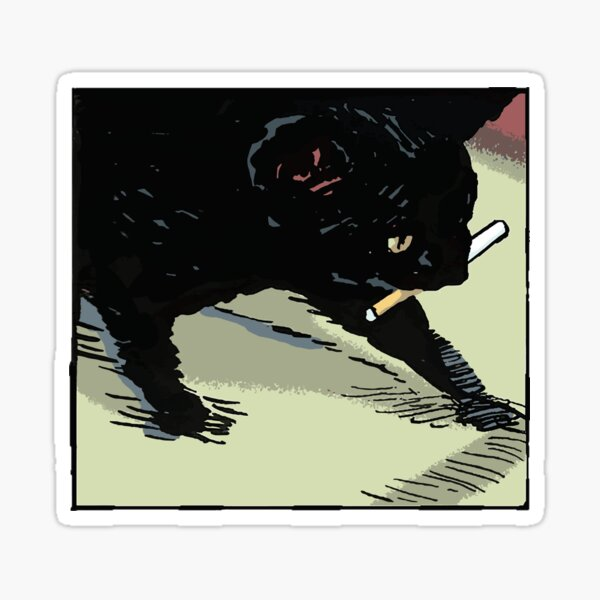CIGARETTE CAT Sticker