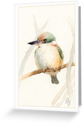 Sacred Kingfisher by Laura Grogan