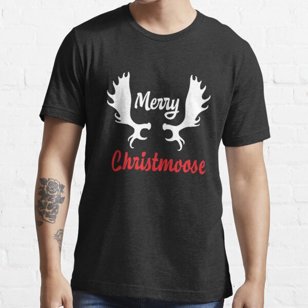 Funny Merry Christmoose Christmas Moose T-Shirt Essential T-Shirt