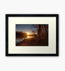 Sunset on the Banks - The River Murray Above Renmark Framed Print