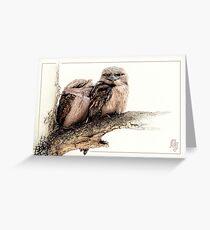 Tawny frogmouth card (Podargus strigoides) Greeting Card